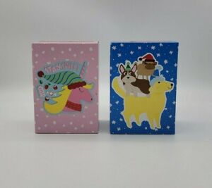 Lot of 2 Creatology Puzzles  Stay Sweet Unicorn Christmas Dogs 49 Pieces
