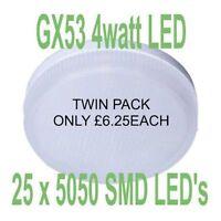 GX53 LED Light Bulb CW LED Under Unit LED Lights Kitchen LED Lights TWIN PACK