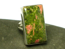 UNAKITE   Sterling  Silver  925  Gemstone  RING  -  Size  K  -  Gift  Boxed