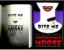 Christopher Moore signed Bite Me 1st printing hardcover book
