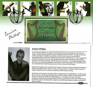 2006 SOUNDS OF BRITAIN SIGNED HARPIST JEMIMA PHILLIPS BENHAM FIRST DAY COVER SHS