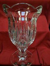 23 Royal Limited Lead Crystal Pedestal Vase Machine Cut Czech Replubic