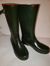 Sperry Top Siders Women's Knee HIgh Rain Boots Size 11 Army Green
