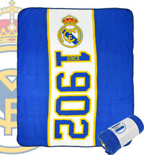 EXTRA LARGE - Real Madrid Football Club Fleece Blanket Kids Boys Fans Bed Throw