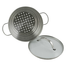 RACO Cuisine 16 18 20cm Universal Steamer Stainless Steel with Glass Lid Silver