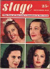 December 1940 STAGE Ethel Mermen Gladys Swartout Hedy Lamar Dinah Shore