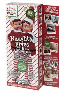 Elves Behavin' Badly 12 Inch Red Naughty Elf Boy And Girl Christmas Festive Cele