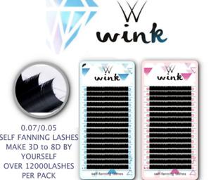 WINK 0.05/0.07 Volume Lash Russian Mink Individual Eyelash Extension UPTO 8D