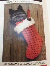Macrame Christmas 3D Santa Mouse Stocking Schnauzer Dog Owl Tree Wreath Book