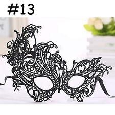 Black Mask Fashion EYE MASK -Venetian Masquerade Ball Costume Party women #13 YA