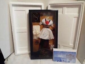 Rare Franklin Mint Titanic Rose Black & White Gown  Ensemble  NIB B11ZV 97 - COA