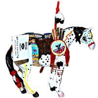 War Pony Black Box Trail Painted Ponies Christmas Ornament Original Series 1496