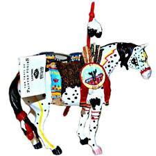 War Pony Black Box Trail Painted Ponies Christmas Ornament Original Series 1496