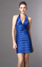 $200 BCBG LARKSPUR BLUE SATIN TIERRED LAYER DRESS NWT 10