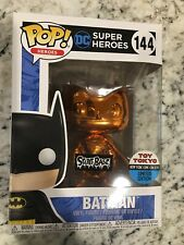 SECRET BASE & TOY TOKYO NYCC Exclusive Orange Chrome Batman Funko Pop 2 Stickers