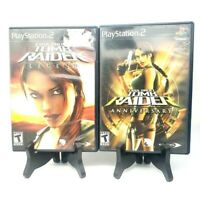 Laura Croft Tomb Raider Legend + Anniversary Lot Sony PlayStation 2 CIB Tested
