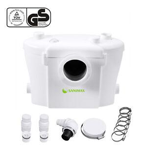 Hebeanlage Sanimax Abwasser Abwasserpumpe 3/1 Sehr Leise WC mit Kohlefilter 400W