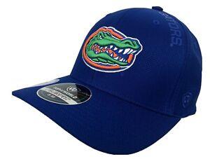 Florida Gators Blue Cool & Dry FlexFit Hat Size S/M with 4 Logos NWT