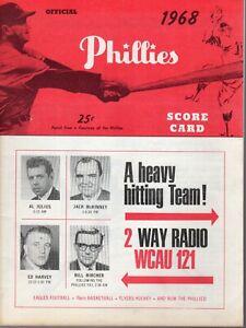 1968 (6/20) Baseball program, San Francisco @ Philadelphia Phillies, scored~VG