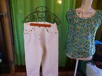 lot femme  T38-40 pantalon toile jeans +chemisier zara (un pantalon offert=)