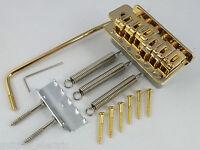 Gold Tremolo Brücke + Trem -arm + 6 Brücke Schrauben für Stratocaster-Gitarre
