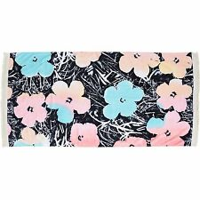 2017 NWT WOMENS BILLABONG WARHOLSURF BEACH TOWEL $50 Black Sands/Floral Warhol