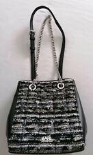 Designerhandtasche Karl Lagerfeld schwarz/weiß Umhängetasche