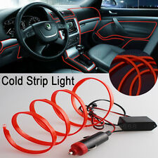 3M Orange-Red Interior Trim Panel Decor Atmosphere Cold Strip EL Light  for Ford