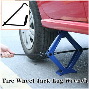 Folding Car Scissor Jack Crank Lever Handle Lift Rod Post Garage Universal