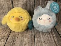Manhattan Toy Squeezemeez Set of 2 Plush Squishies Bunny & Chick NWT
