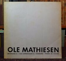 OLE MATHIESEN 1971 Pamphlet in 4 Languages Photos Danish Watchmaker Horology