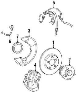 Genuine Ford Brake Hydraulic Hose 1F3Z-2078-CA