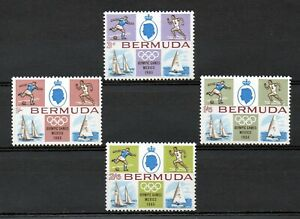 Bermuda 1968 Mexico Olympics MNH set S.G. 220-223