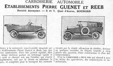 BOURGES CAROSSERIE AUTOMOBILE PIERRE GUENET & REEB ARTICLE DE PRESSE 1922