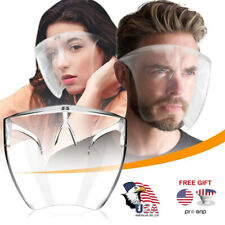 Clear Face Shield Mask Reusable Glasses Visor Anti-Fog Face Full