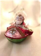 Gisela Graham Christmas Glass Santa in Space Ship Tree Bauble Decoration