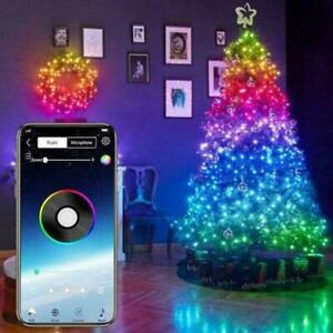 Christmas Tree Decoration Lights LED String Lamp Bluetooth App Remote Control UK