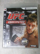 UFC Undisputed 2009 (Sony PlayStation 3, 2009) With Case and Manual