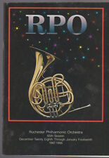 Rochester Philharmonic Orchestra Rpo Program 1987-88 Skycoasters Nutcracker