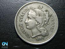 1867 3 Cent Nickel Piece  --  MAKE US AN OFFER!  #B7195