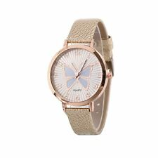 Cute Rose Gold Butterfly Watch Love Khaki Time UV Present Gift UK Warranty