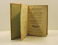 VITRUVIO, PERRAULT Claude, L'architettura generale di Vitruvio