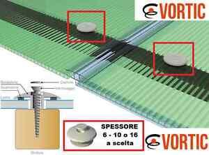 RONDELLONE per fissaggio LASTRE in POLICARBONATO ALVEOLARE!  Sp 6-10-16 mm