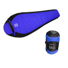 New Winter -10℃~-25℃ Degree Duck Down Sleeping Bag Black+Blue Camping Outdoor