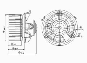 HVAC Blower Motor Front TYC 700101 (12 Month 12,000 Mile Warranty)