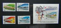 Grenada Grenadines 1985 Civil Aviation Organisation set & Miniature Sheet MNH