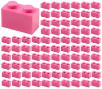 ☀️100x NEW LEGO 1x2 DARK PINK Bricks (ID 3004) BULK Parts Building Girl Friends