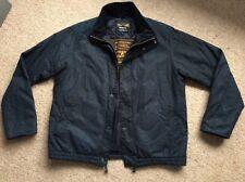 Men's navy blue medium wax Barbour jacket