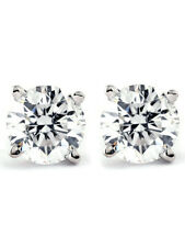 1/4 Carat Genuine Diamond Stud Earrings (i2-i3 Clarity IJ Color) 14k White Gold