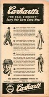 1948 Vintage Print Ad Carhartt Overall Workwear Friend To Organized Labor Union